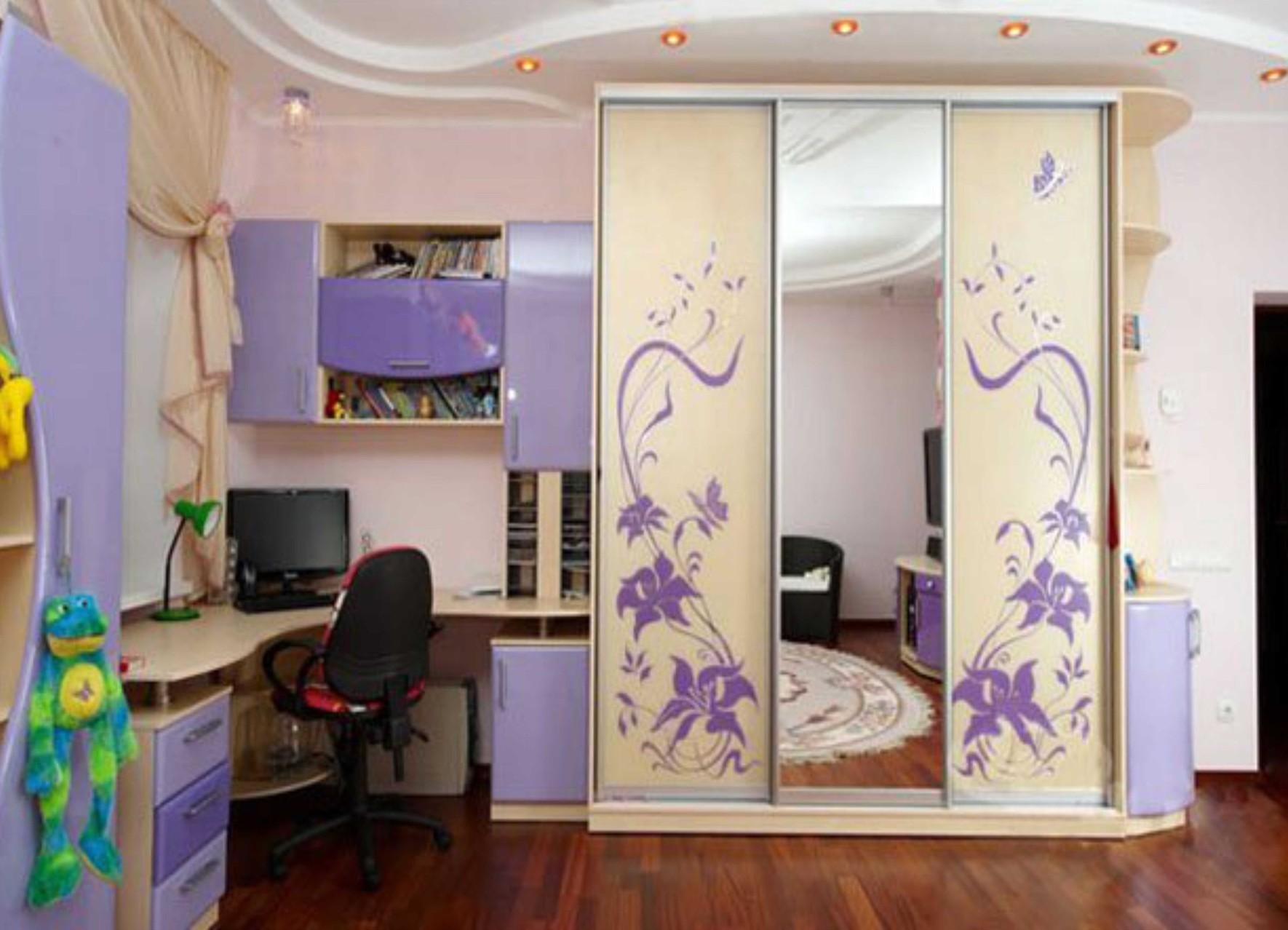 Шкаф купе в детскую комнату дизайн
