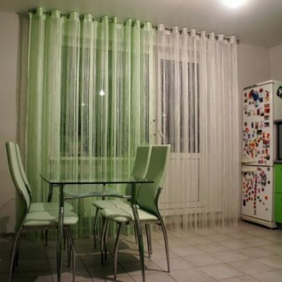 фото на кухню шторы