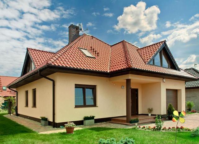 Цвет крыши и фасада дома фото