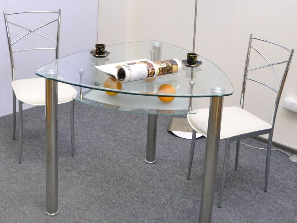 Столы стеклянные треугольные