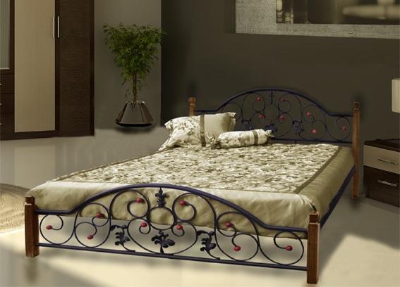 Изыск и роскошь — металлическая кровать для спальни