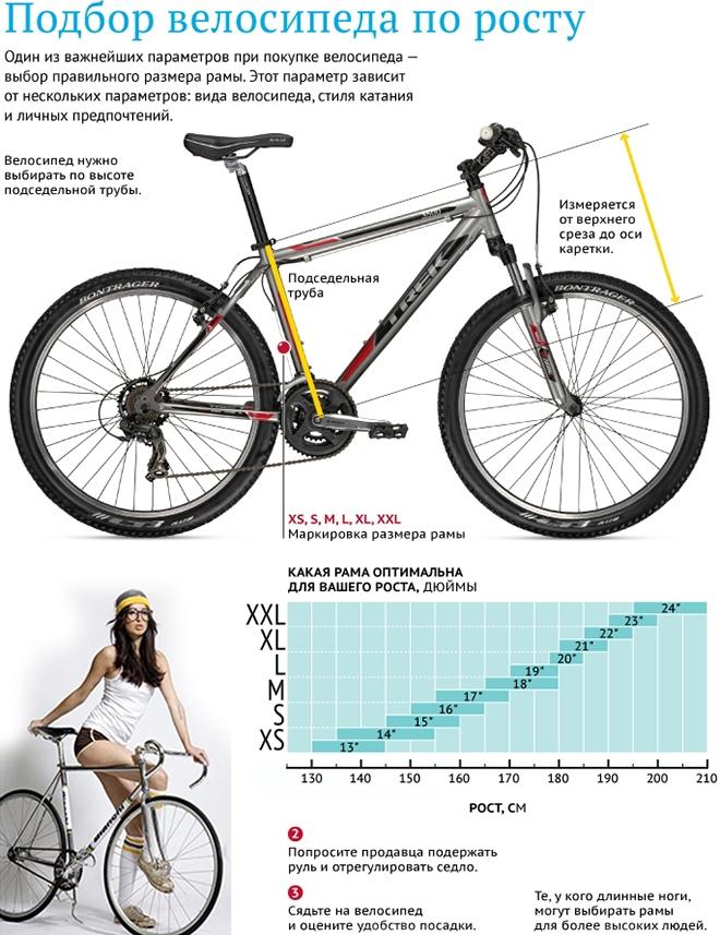 Как подобрать размер рамы велосипеда
