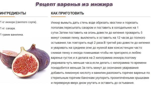 Варенье из инжира польза и вред