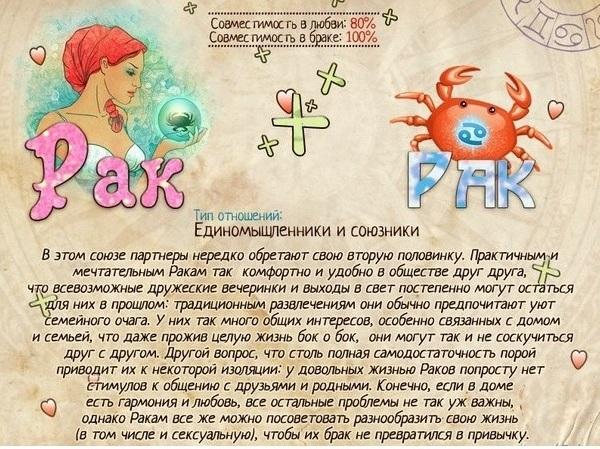 Гороскоп   совместимость рак мужчи  близнецы женщи  совместимость в
