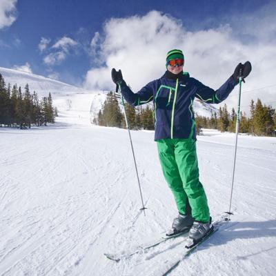 на лыжах скачать игру