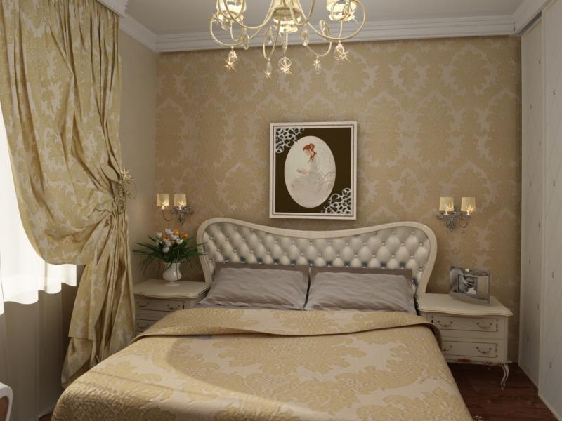 Отделка стен в маленькой спальне