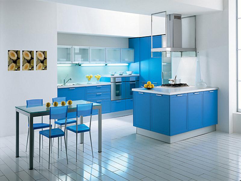 Кухня в синих тонах дизайн
