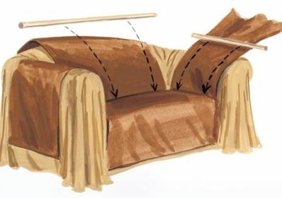 Сшить чехлы для дивана своими руками