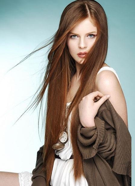 каскад на длинные волосы без чёлки фото