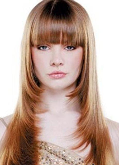 Красивые стрижки с чёлкой на средние волосы фото