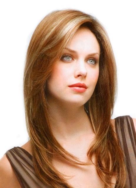 красивые стрижки на длинные волосы с челкой