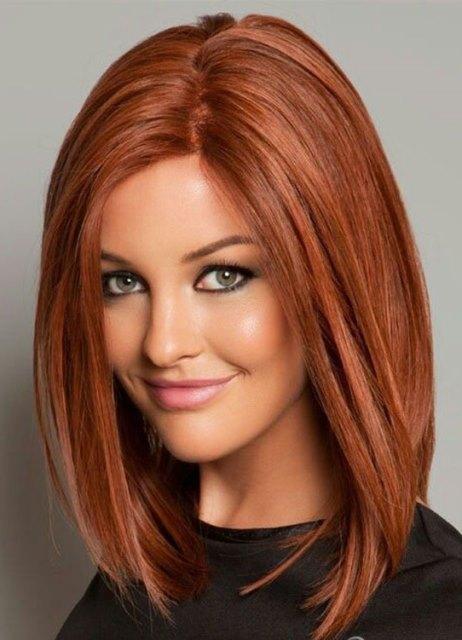 Красивые стрижки с чёлкой на средние волосы