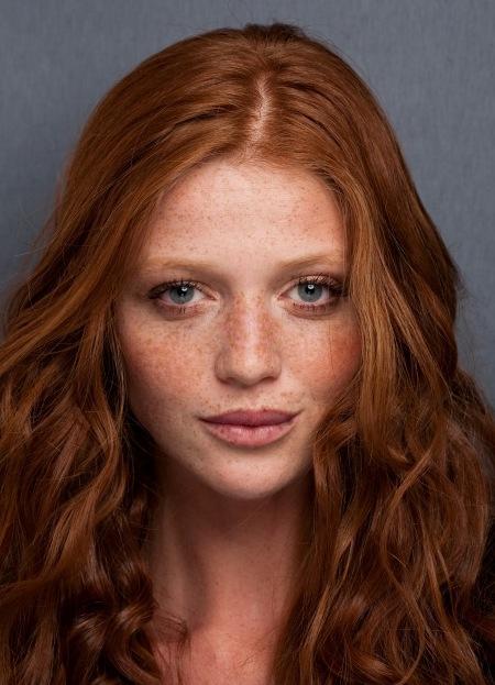 Естественный цвет волос рыжий