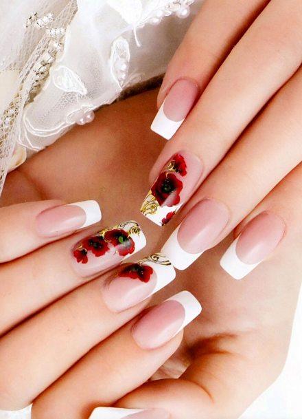 Френч нарощенные ногти дизайн