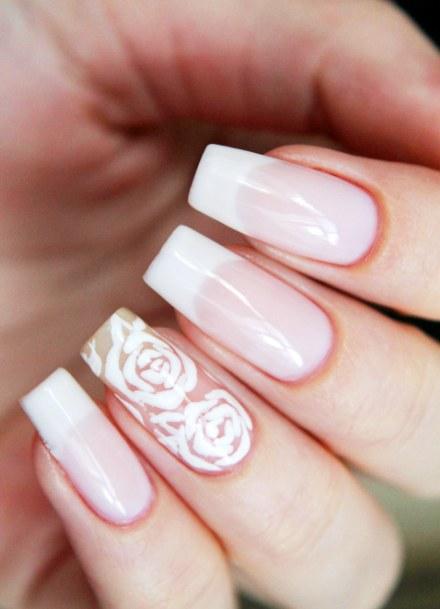Дизайн френч нарощенные ногти фото