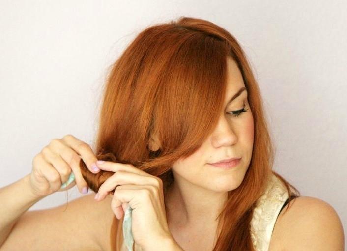 как накрутить волосы на тряпочки пошаговая инструкция фото - фото 4