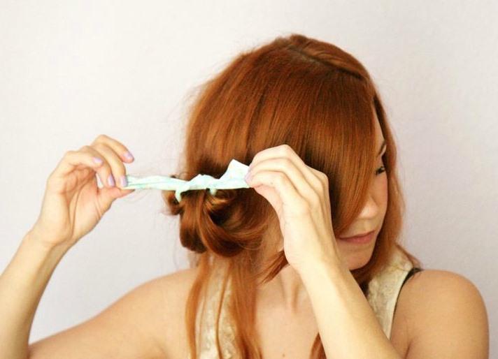 как накрутить волосы на тряпочки пошаговая инструкция фото - фото 3