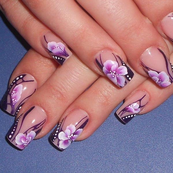 Красивый дизайн ногтей наращивание