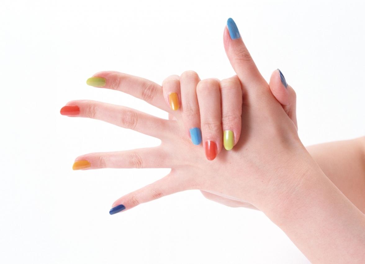 Маникюр все пальцы разные