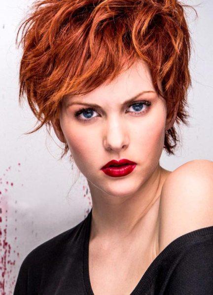 Короткие причёски на рыжие волосы