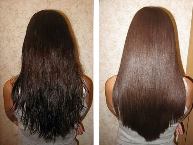 волосы после бесцветной хны