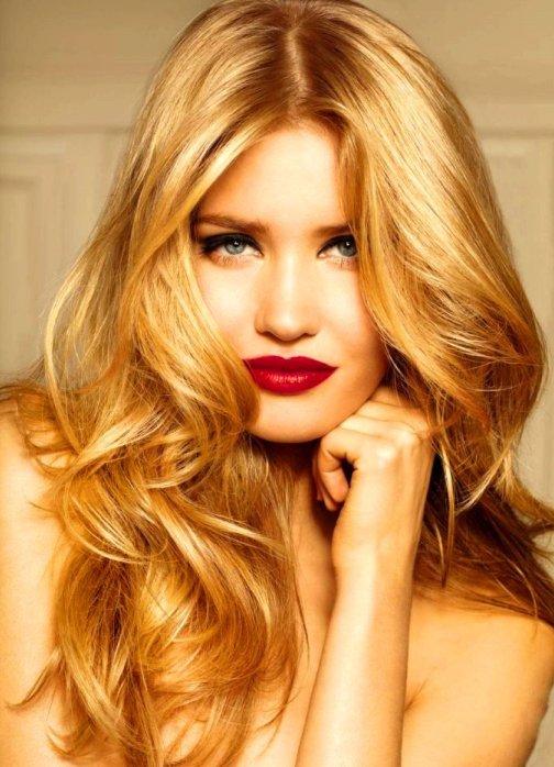 Золотой блонд цвет волос фото