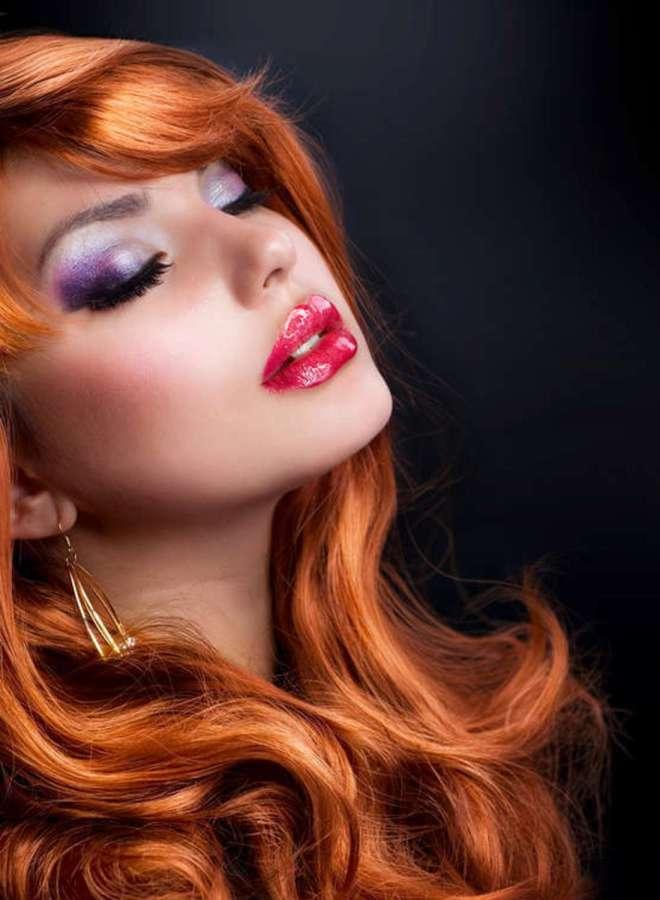Как подобрать помаду под цвет волос 9