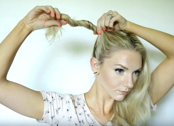Как сделать два пучка из волос по бокам