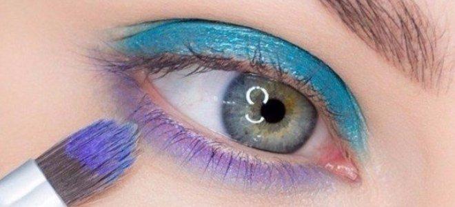 красивый макияж для голубых глаз 2