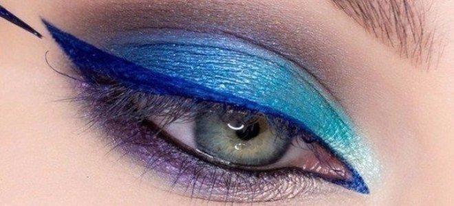 красивый макияж для голубых глаз 6