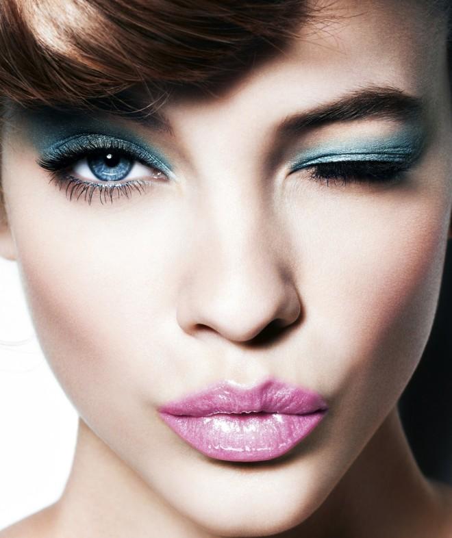 Макияж для брюнеток с голубыми глазами 2