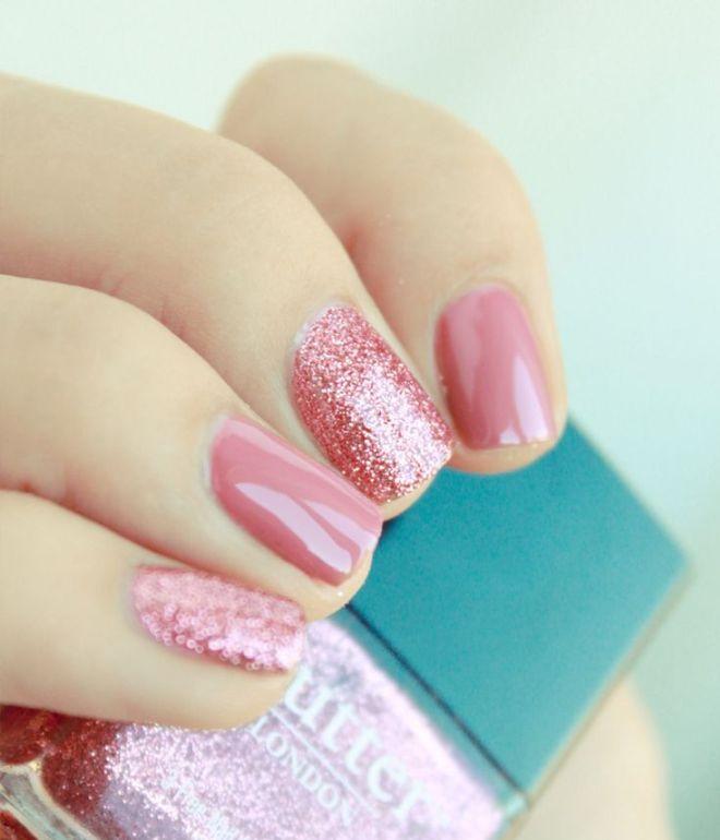 нежный маникюр на коротких ногтях гель лаком 2