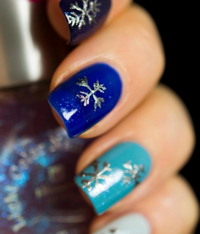новогодний гель лак на короткие ногти 2