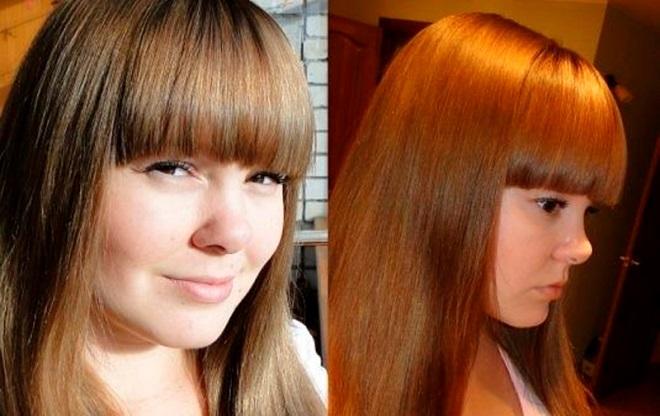 Покраска хной русых волос