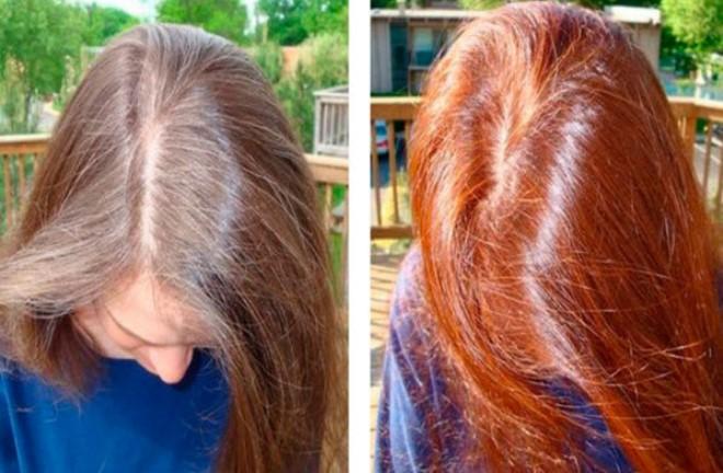 Хна цвет на русых волосах