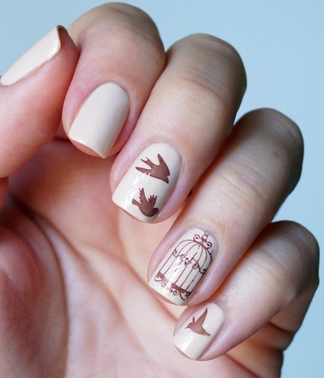 рисунки гель лаком на короткие ногти 1