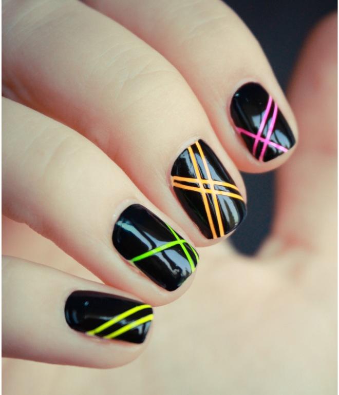рисунки гель лаком на короткие ногти 2