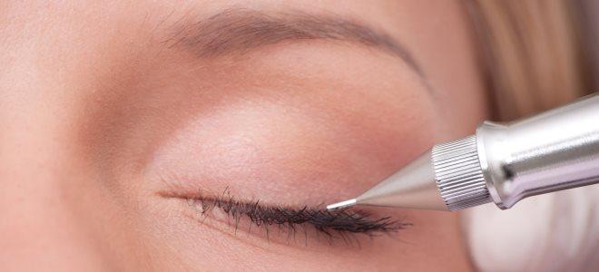 техника перманентного макияжа век