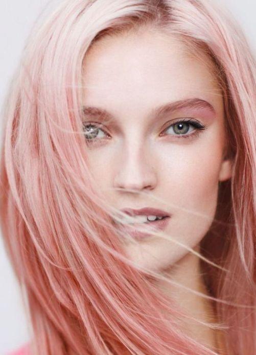 Розовый жемчуг цвет волос фото