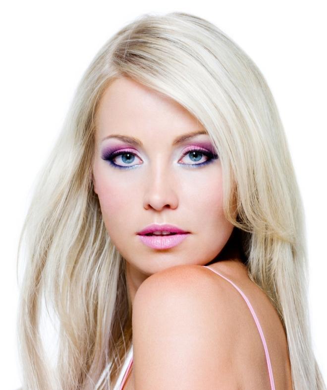 Вечерний макияж для голубых глаз 2