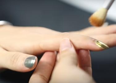 зеркальная пудра для ногтей мастер класс 6