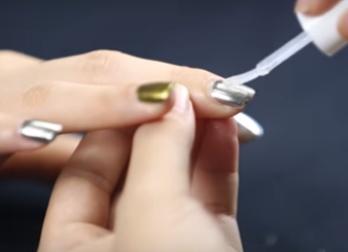 зеркальная пудра для ногтей мастер класс 7