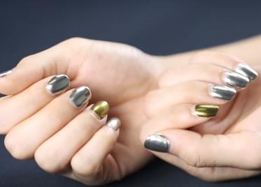 зеркальная пудра для ногтей мастер класс 8