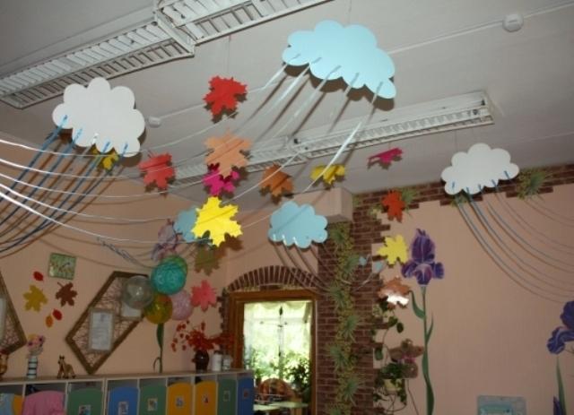Осеннее оформление раздевалки в детском саду