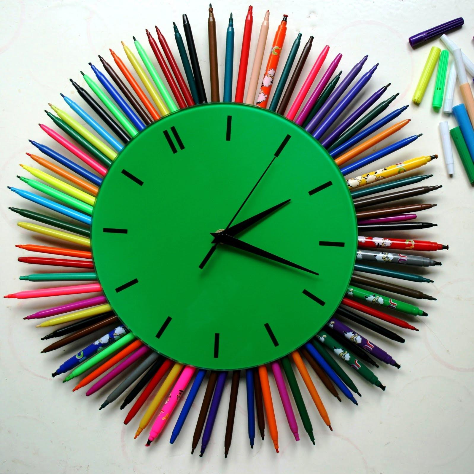 Часы своими руками идеи для детей 57