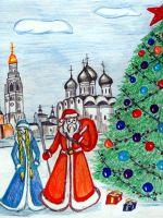 Детские новогодние рисунки
