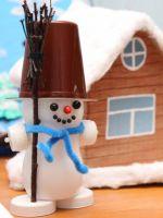Поделка в детский сад на новогоднюю тему
