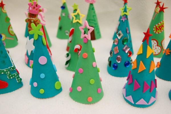 Новогодние поделки детского сада фото