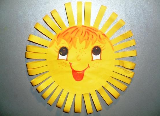 Как сделать солнышко с бумаги