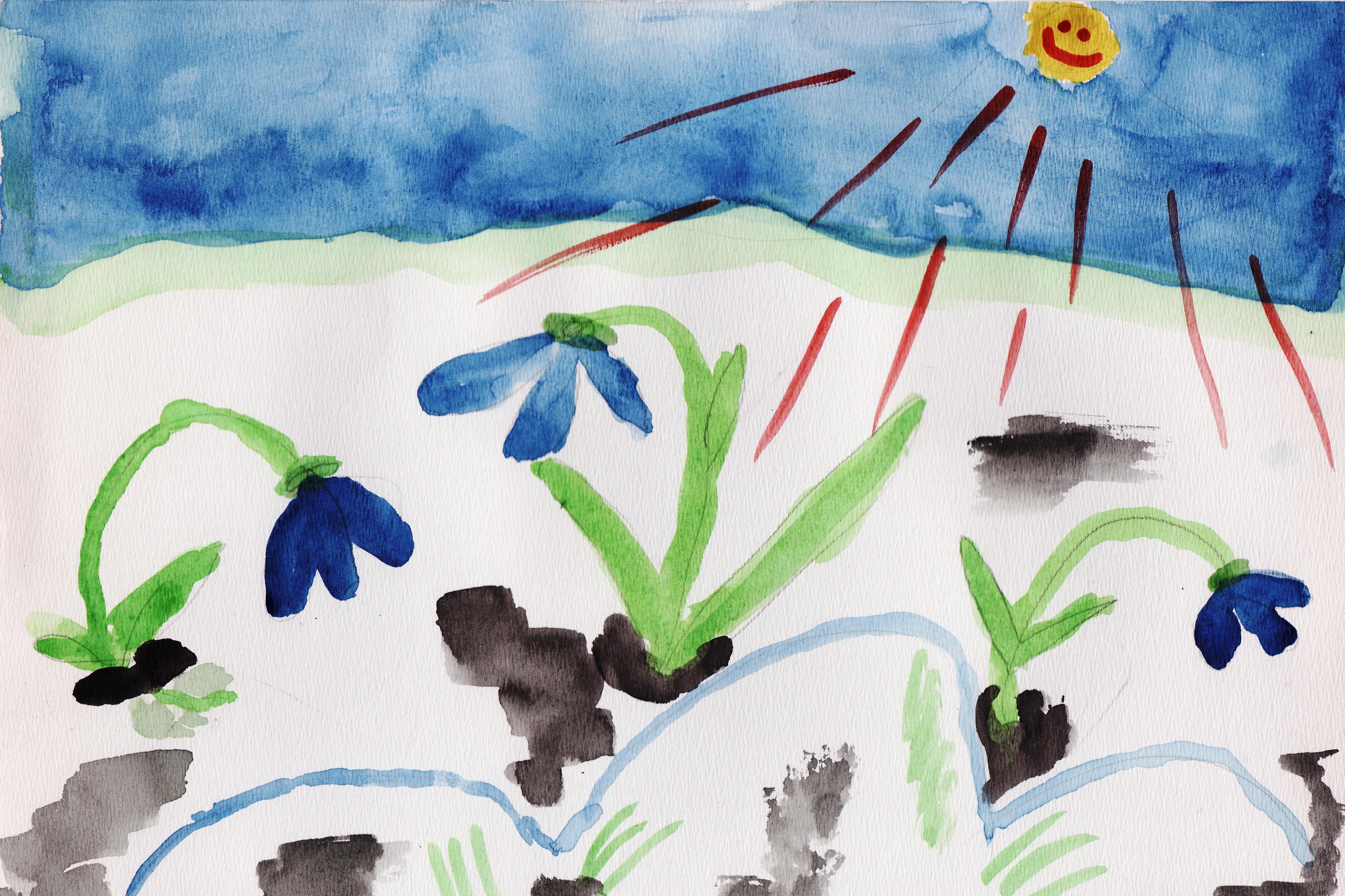 весна на конкурс тему рисунки детские